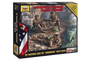 "Wargames (HW) figurky 7414 - American Machine gun ""Browning"" (1:72)"