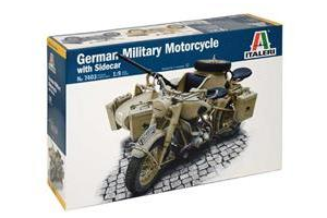 German Military Motorcycle with Sidecar (1:9) - 7403