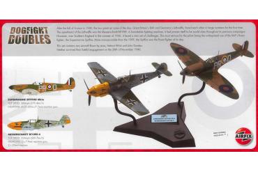 Gift Set letadlo A50135 - Supermarine Spitfire Mk1a Messerschmitt BF109E-4 (1:72)