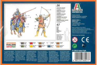 Model Kit figurky 6027 - ENGLISH KNIGHTS AND ARCHERS (100 YEARS WAR) (1:72)