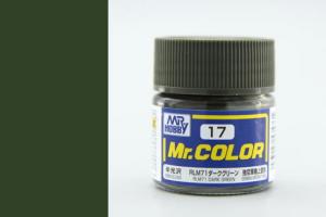 Mr. Color - C017: RLM71 tmavě zelená pololesklá