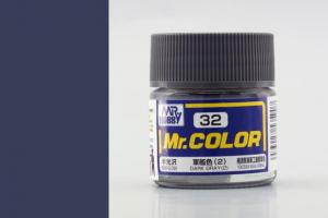 Mr. Color - C032: Tmavě šedá (2) pololesklá