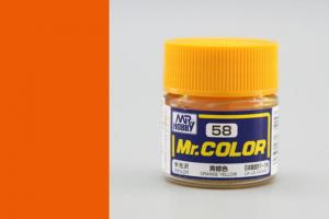 Mr. Color - C058: Oranžovo žlutá pololesklá