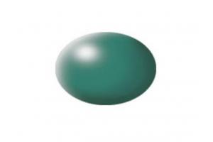365: hedvábná zelená patina  (patina green silk) - Aqua