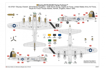 Boeing B-17G FLYING FORTRESS (1:72) - A08017