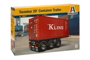 Model Kit návěs 3887 - TECNOKAR 20' CONTAINER TRAILER (1:24)