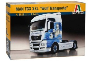 "Model Kit truck 3921 - MAN TGX XXL ""WOLF TRANSPORTE"" (1:24)"