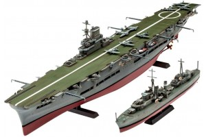 Plastic ModelKit loď 05149 - HMS Ark Royal & Tribal Class Destroyer (1:720)