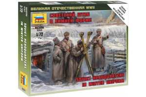 Wargames (WWII) figurky 6231 - Soviet headquarters in winter uniform (1:72)