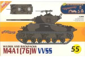 Modelkit tank 9155 - M4A1(76)W VVSS 1:35