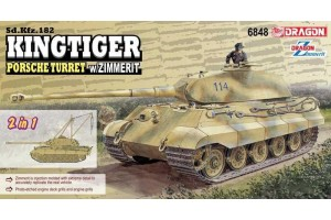Model Kit tank 6848 - Sd.Kfz.182 Kingtiger Porsche Turret w/Zimmerit (2 in 1) (1:35)