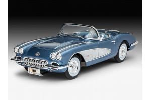 Plastic ModelKit auto 07037 - '58 Corvette Roadster (1:25)
