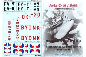 Obtisky - Avia S-99 / Me-109G - 10 (1:48) - 48030