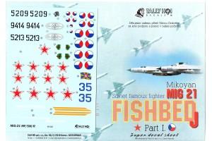 Obtisky - Mig-21 MF, SM, R (1:48) - 48020