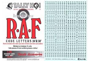 Obtisky - RAF Code letters (1:48) - 48010