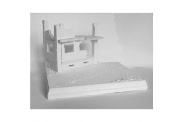 Pobořený dům u cesty - 3N18