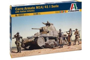 Model Kit tank 6543 - M13/40 with Bersaglieri (1:35)