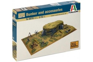 WWII - BUNKER AND ACCESSORIES (1:72) - 6070