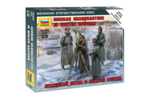 Wargames (WWII) - German Headquarters in winter uniform (1:72) - 6232