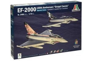 "Model Kit letadlo 1406 - EF-2000 100th Anniversary ""Gruppi Caccia"" Special Colors (1:72)"