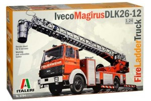 Model Kit truck 3784 - Iveco Magirus DLK 26-12 Fire Ladder Truck (1:24)