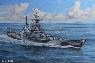 Battleship U.S.S. Missouri (WWII)  (1:1200) - 65128