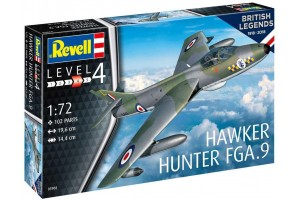 Plastic ModelKit letadlo 03908 - 100 Years RAF: Hawker Hunter FGA.9 (1:72)