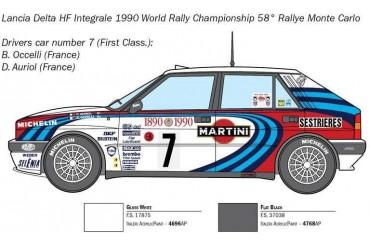 Model Kit auto 3658 - Lancia Delta HF Integrale (1:24)