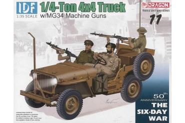 Model Kit military 3609 - IDF 1/4-Ton 4x4 Truck w/MG34 Machine Guns (1:35)