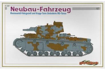 Model Kit tank 6666 - NEUBAU-FAHRZEUG RHEINMETALL-FAHRGESTELL UND KRUPP-TRUM GEÄNDERTE MG-TÜRME (1:35)