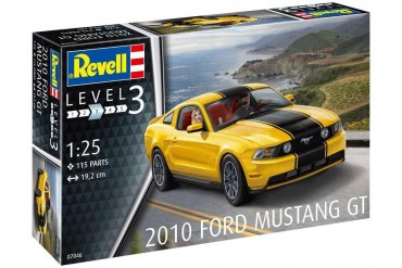 Plastic ModelKit auto 07046 - 2010 Ford Mustang GT (1:25)
