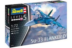 Plastic ModelKit letadlo 03911 - Sukhoi Su-33 Navy Flanker (1:72)