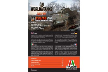 Model Kit World of Tanks Limited Edition 36515 - P26/40 (1:35)