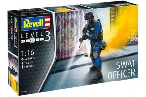Plastic ModelKit figurka 02805 - SWAT Officer (1:16)