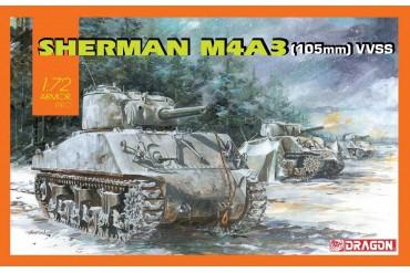 Model Kit tank 7569 - Sherman M4A3 (105mm) VVSS (1:72)