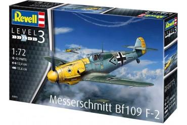 Plastic ModelKit letadlo 03893 - Messerschmitt Bf109 F-2 (1:72)