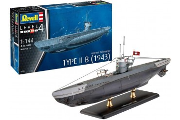 Plastic ModelKit ponorka 05155 - German Submarine Type IIB (1943) (1:144)