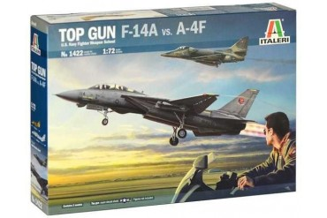 Model Kit letadla 1422 - TOP GUN F-14A vs A-4F (1:72)