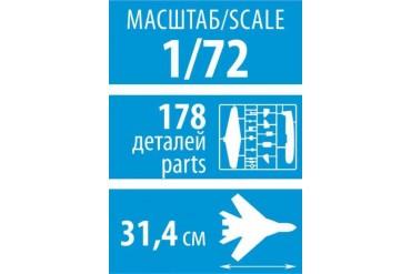 """Model Kit letadlo 7294 - Sukhoi SU-27 UB """"Flanker-C"""" (1:72)"""
