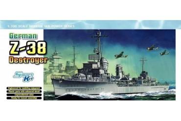 Model Kit loď 7134 - GERMAN Z-38 DESTROYER (SMART KIT) (1:700)