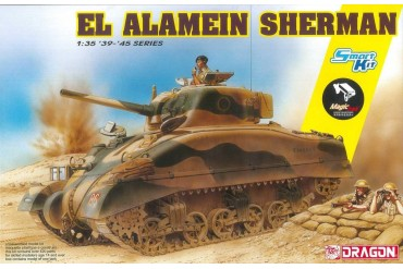 Model Kit tank 6617 - El Alamein Sherman (w/Magic Tracks) (SMART KIT) (1:35)