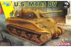 Model Kit tank 6618 - U.S. M4A1 DV (with Magic Tracks) (SMART KIT) (1:35)