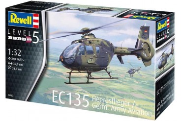Plastic ModelKit vrtulník 04982 - EC 135 Heeresflieger / German Army Aviation (1:32)