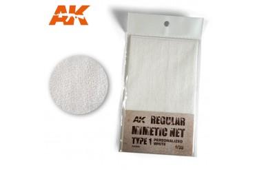 Bílá kamuflážní síť (CAMOUFLAGE NET SAND TYPE 1) - AK8061