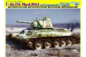 Model Kit tank 6584 - T-34/76 MOD. 1943 w/COMMANDER CUPOLA NO. 112 FACTORY (1:35)