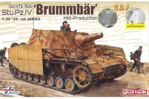 Model Kit military 6892 - Sd.Kfz.166 Stu.Pz.IV 'BRUMMBÄR' MID-PRODUCTION (2 IN 1) (1:35)