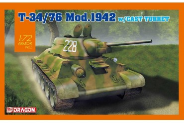 Model Kit tank 7601 - T-34/76 Mod.1942 Cast Turret (1:72)