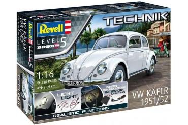 Plastic ModelKit TECHNIK auto 00450 - VW Beetle 1951/52 (1:16)