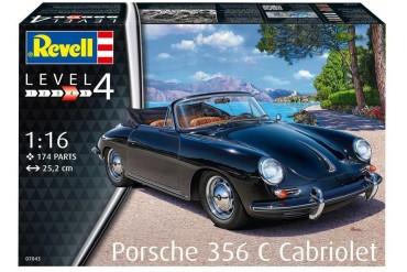 Plastic ModelKit auto 07043 - Porsche 356 Cabriolet (1:16)