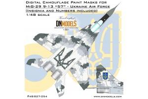 Mask set - MiG-29 9-13 Fulcrum-C Ukrainian Digital Camo (1:48) - 48/827-054
